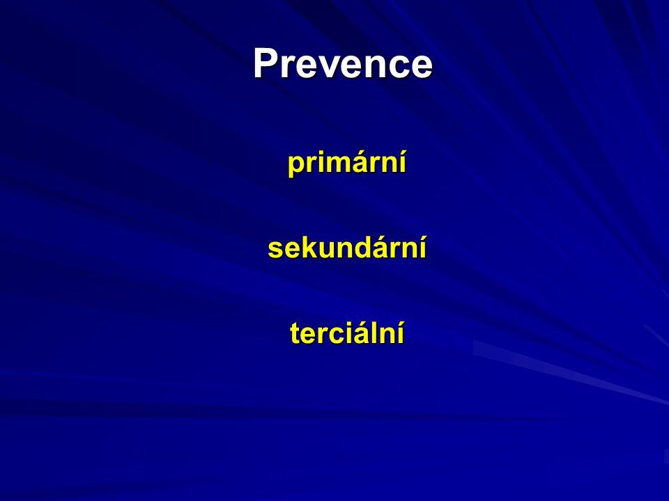 Prevence primárnísekundárníterciální