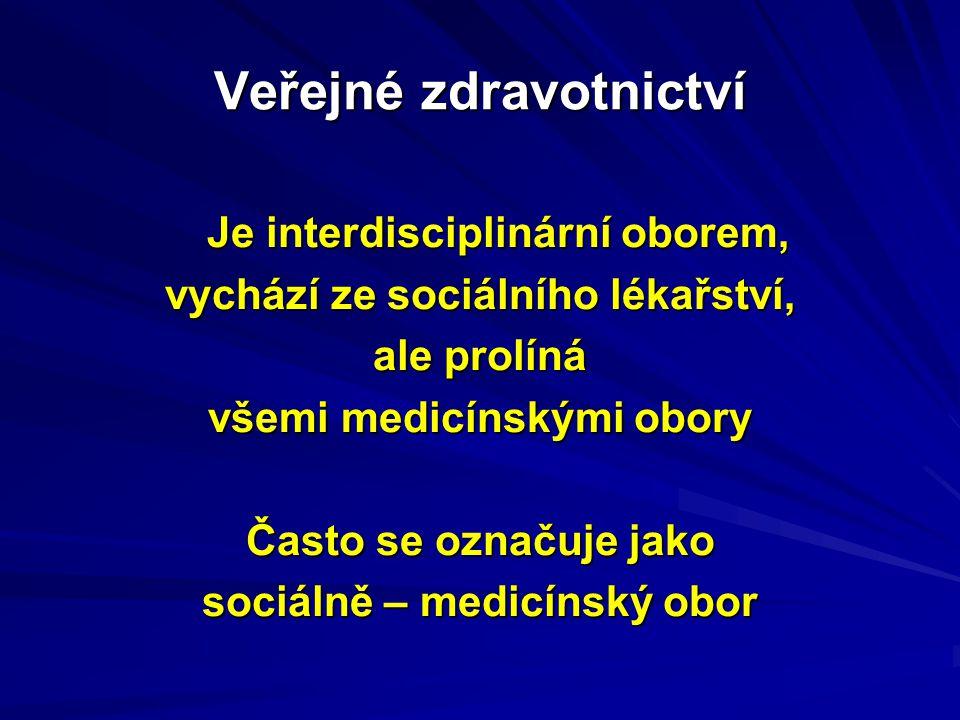 Mezi tzv.sociálně – medicínské obory se dále např.