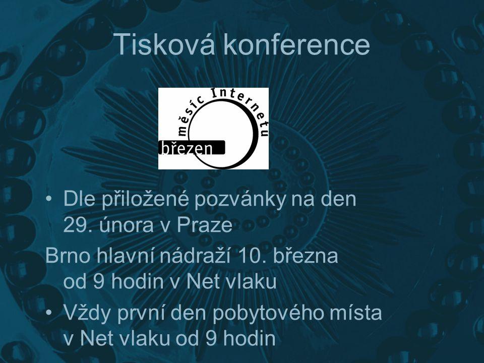 Tisková konference Dle přiložené pozvánky na den 29.