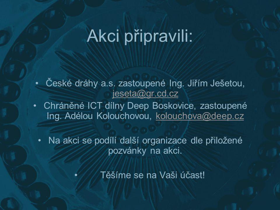 Tuto prezentaci připravil lektor Deep, odborný garant akce Net vlak, prakticky nevidomý Jaroslav Čajka únor 2008