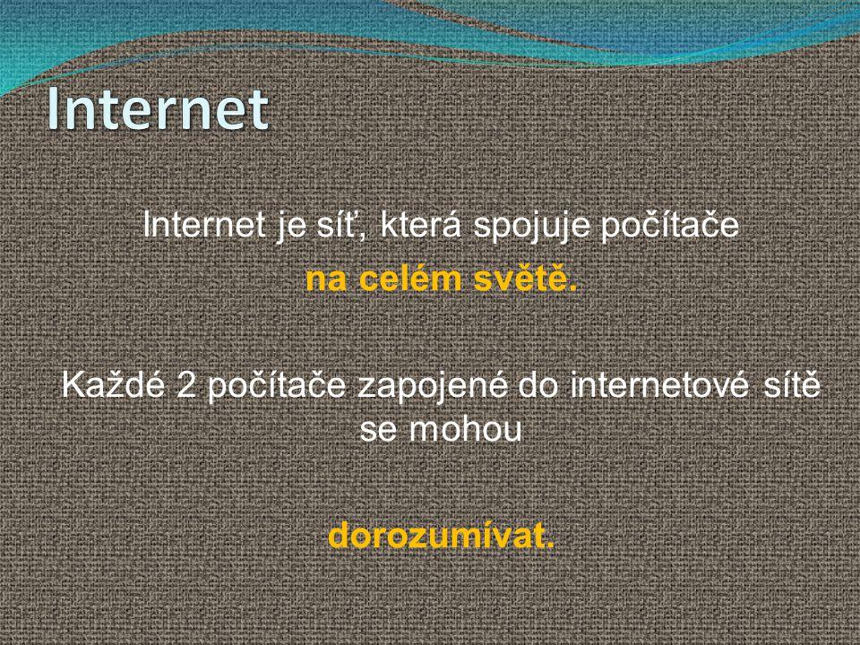 Spojte počítače a vytvořte síť.