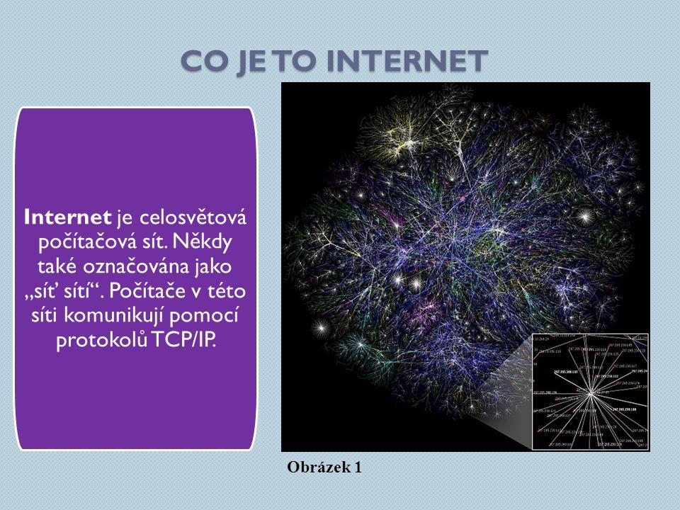 CO JE TO INTERNET Internet je celosvětová počítačová sít.