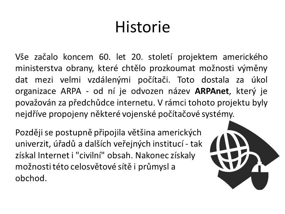 Rozšíření internetu Kolem roku 1993 se Internet dostává výrazněji do povědomí široké veřejnosti.