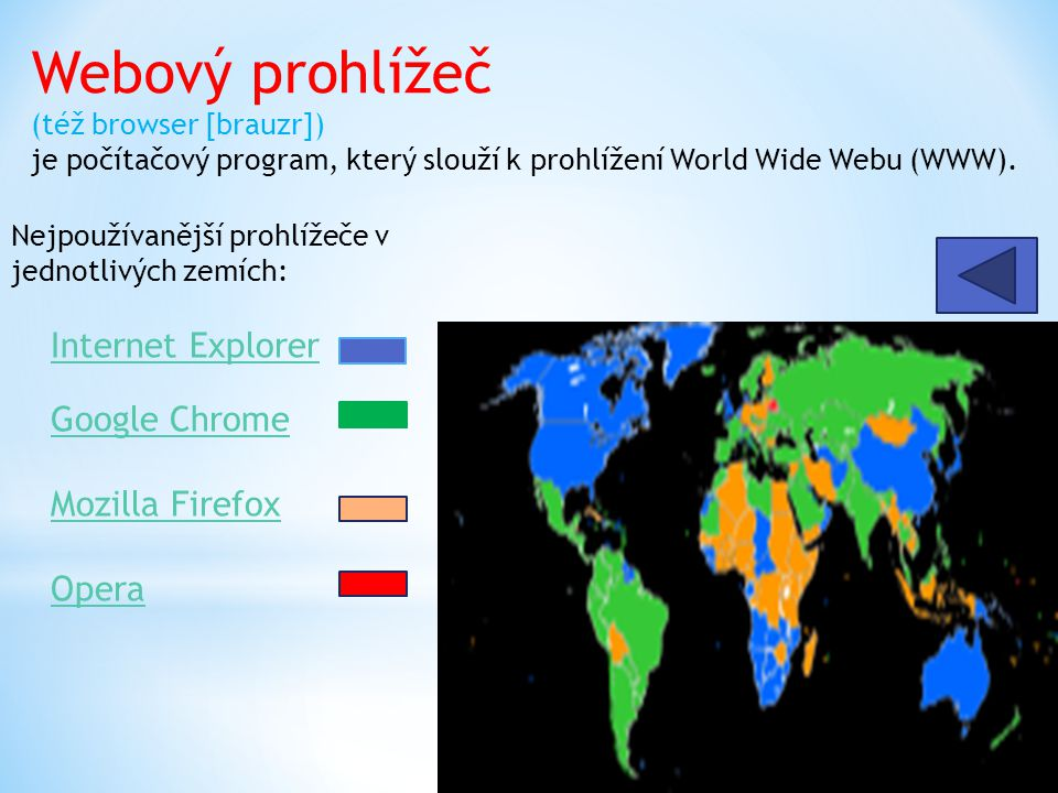 Mozilla Firefox je svobodný multiplatformní webový prohlížeč, který vyvíjí ve spolupráci se stovkami dobrovolníků Mozilla Corporation.