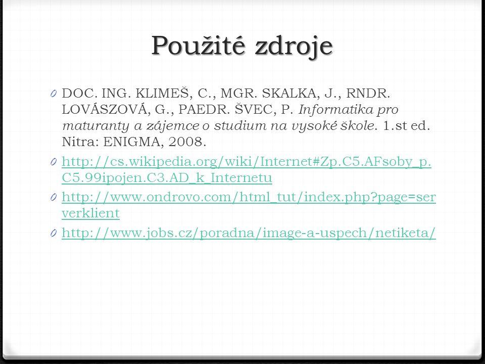 0 DOC.ING. KLIMEŠ, C., MGR. SKALKA, J., RNDR. LOVÁSZOVÁ, G., PAEDR.