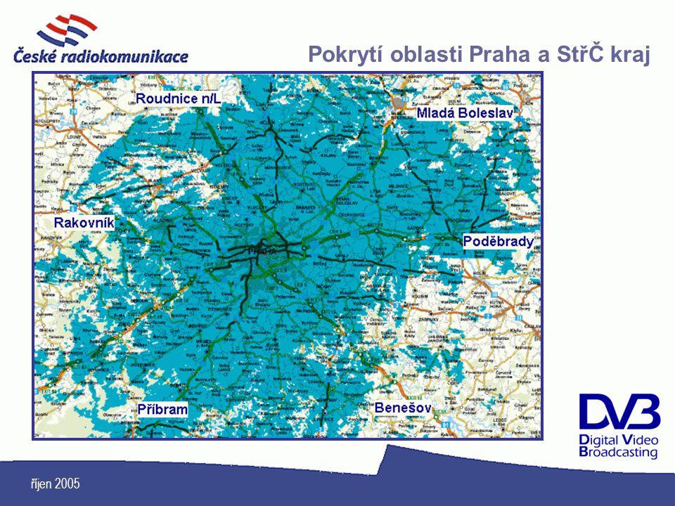 říjen 2005 Pokrytí oblasti Praha a StřČ kraj