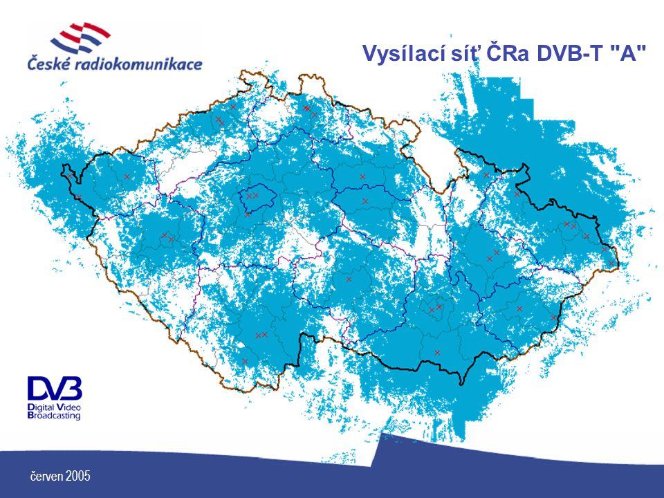 červen 2005 Vysílací síť ČRa DVB-T