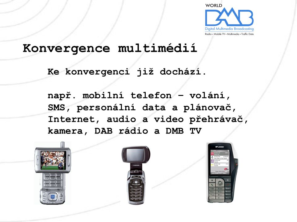 Konvergence multimédií Ke konvergenci již dochází.