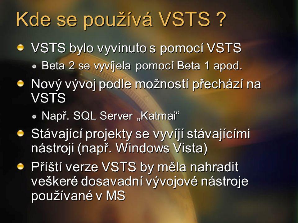 Kde se používá VSTS . VSTS bylo vyvinuto s pomocí VSTS Beta 2 se vyvíjela pomocí Beta 1 apod.