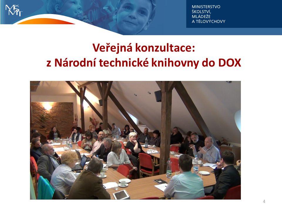 4 Veřejná konzultace: z Národní technické knihovny do DOX