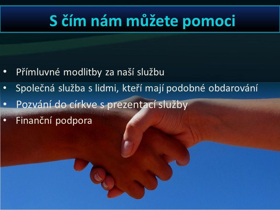 Co nabízíme sborům Služba na evangelizacích Modlitby za nemocné Semináře pro budování sborů Duchovní poradenství