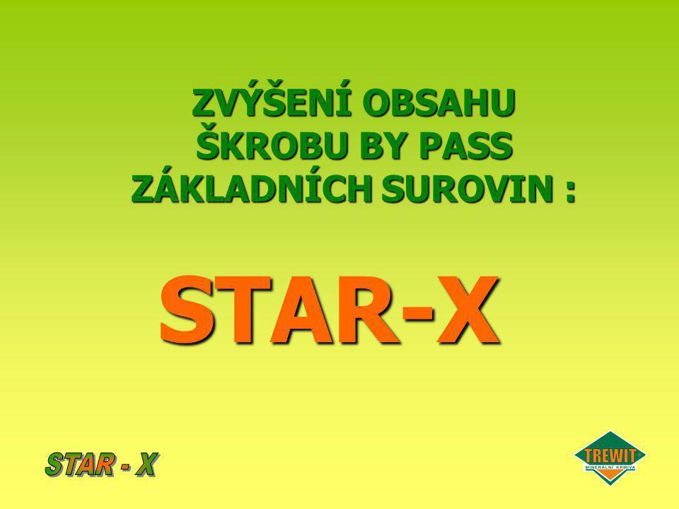 ZVÝŠENÍ OBSAHU ŠKROBU BY PASS ZÁKLADNÍCH SUROVIN : STAR-X
