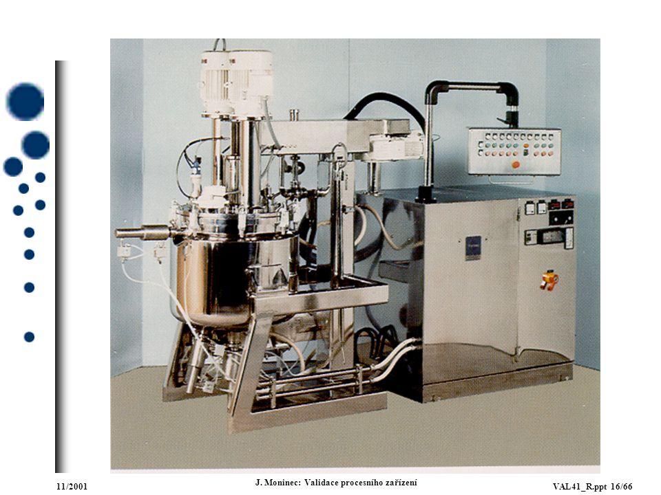 11/2001VAL41_R.ppt 16/66 J. Moninec: Validace procesního zařízení