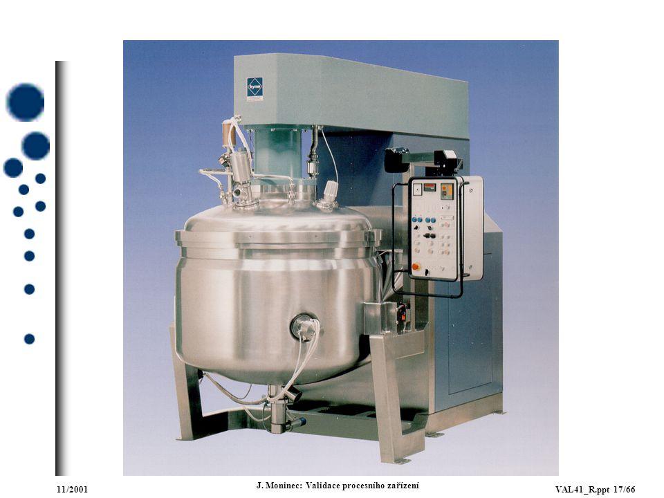11/2001VAL41_R.ppt 17/66 J. Moninec: Validace procesního zařízení