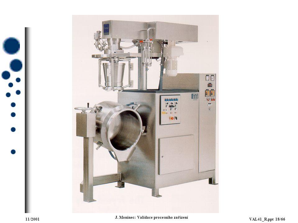 11/2001VAL41_R.ppt 18/66 J. Moninec: Validace procesního zařízení