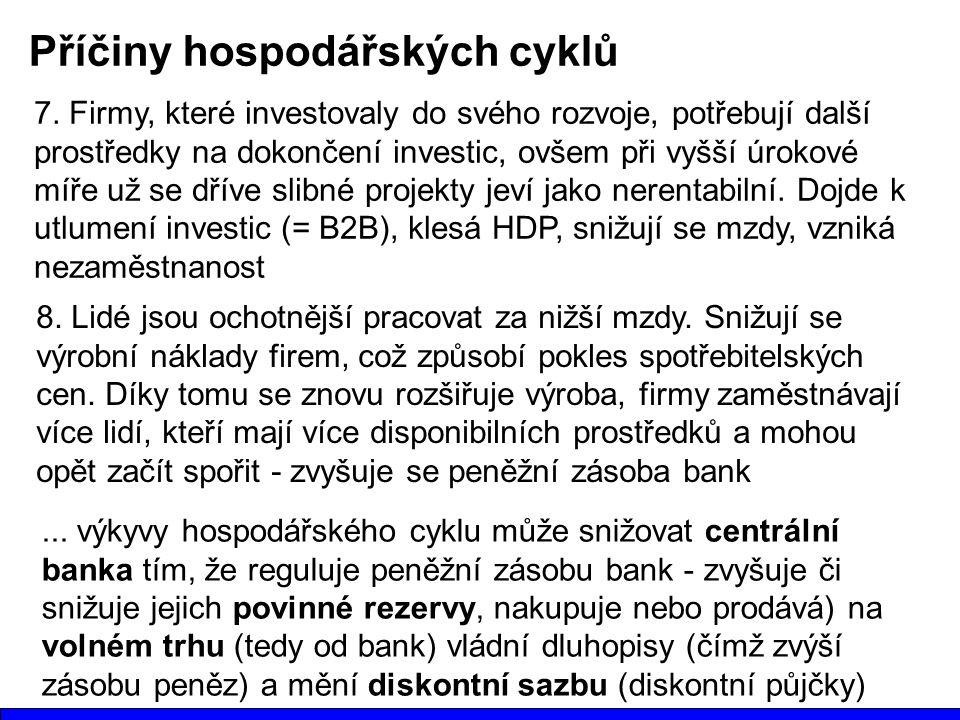 Příčiny hospodářských cyklů 7.