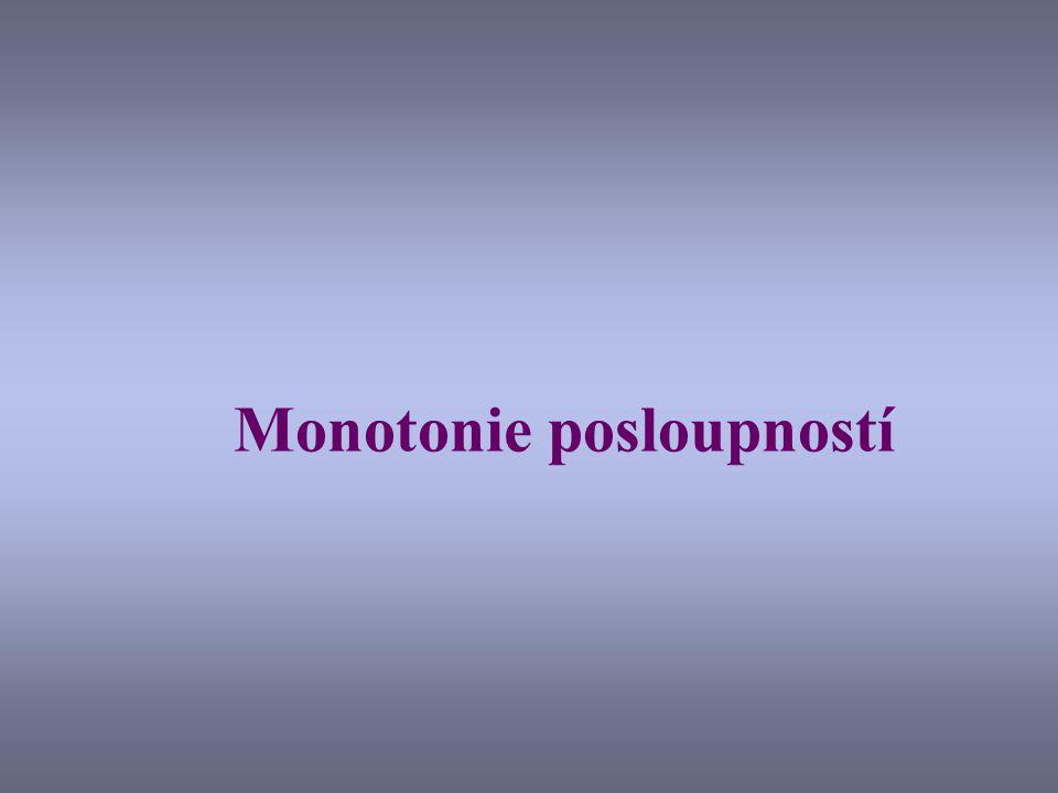 Monotonie posloupností