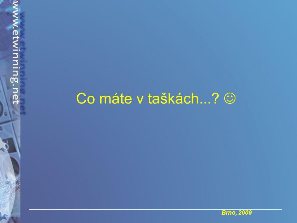 Brno, 2009 Co máte v taškách...