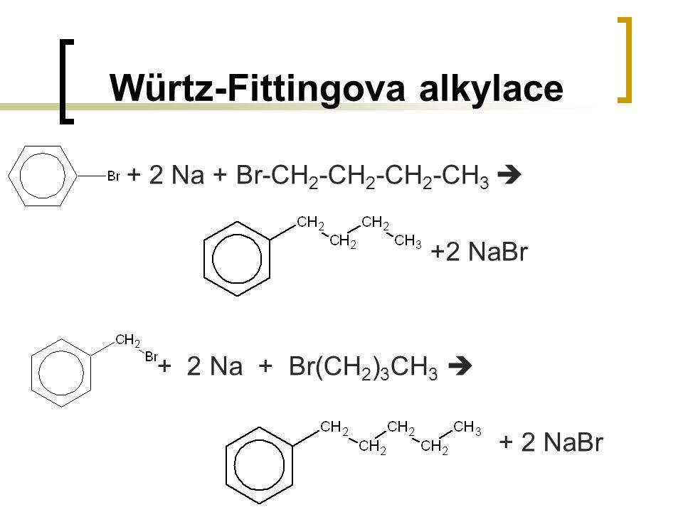 Würtz-Fittingova alkylace + 2 Na + Br-CH 2 -CH 2 -CH 2 -CH 3  +2 NaBr + 2 Na + Br(CH 2 ) 3 CH 3  + 2 NaBr
