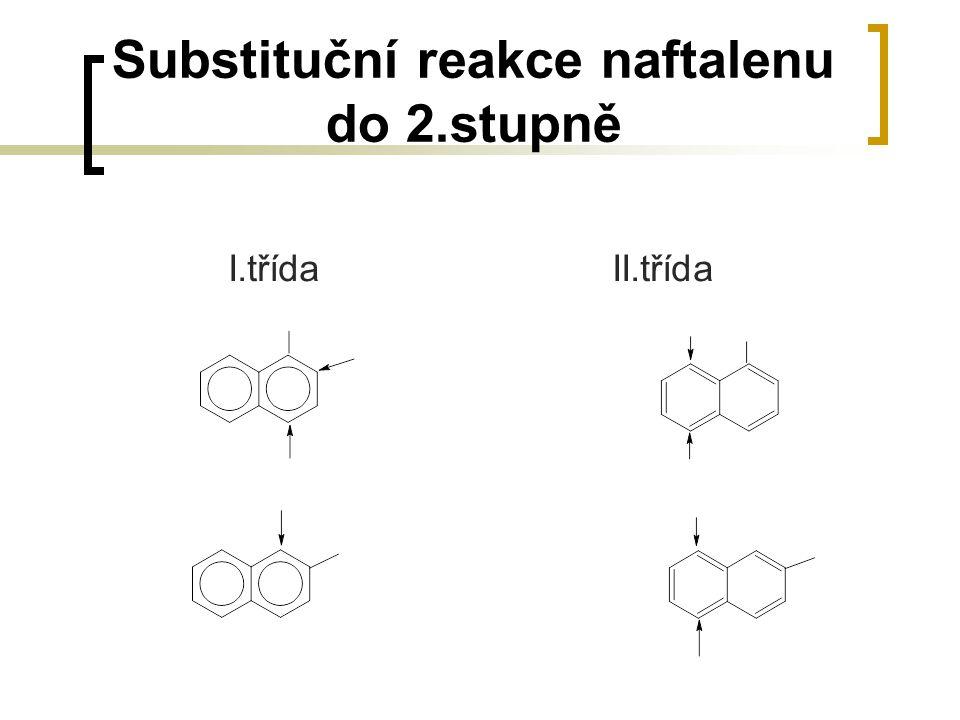 Substituční reakce naftalenu do 2.stupně I.třídaII.třída