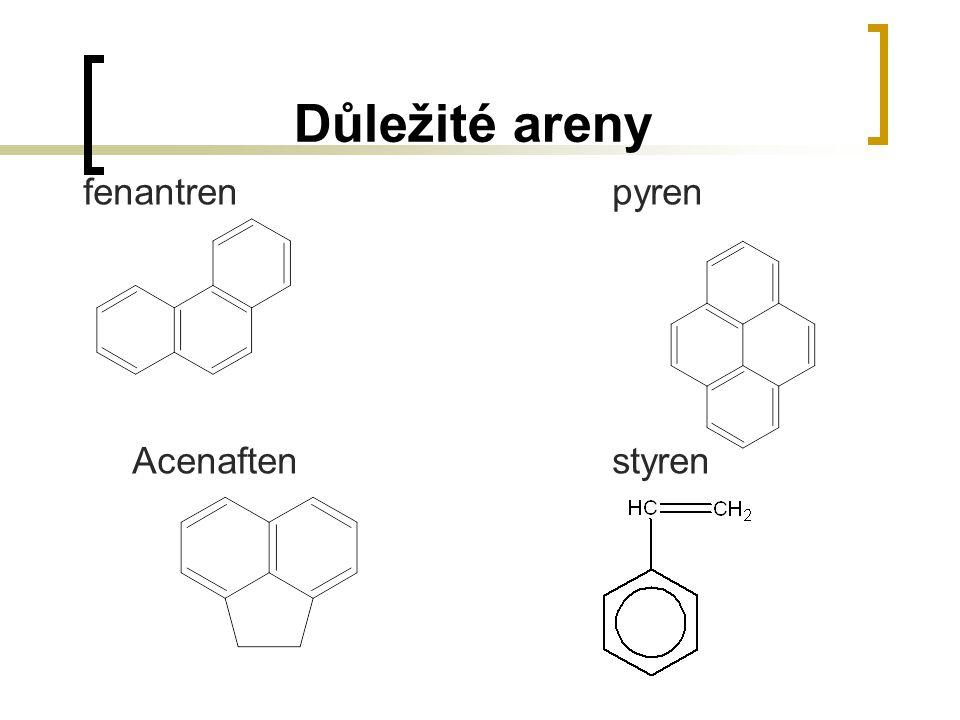 Důležité areny fenantrenpyren Acenaftenstyren