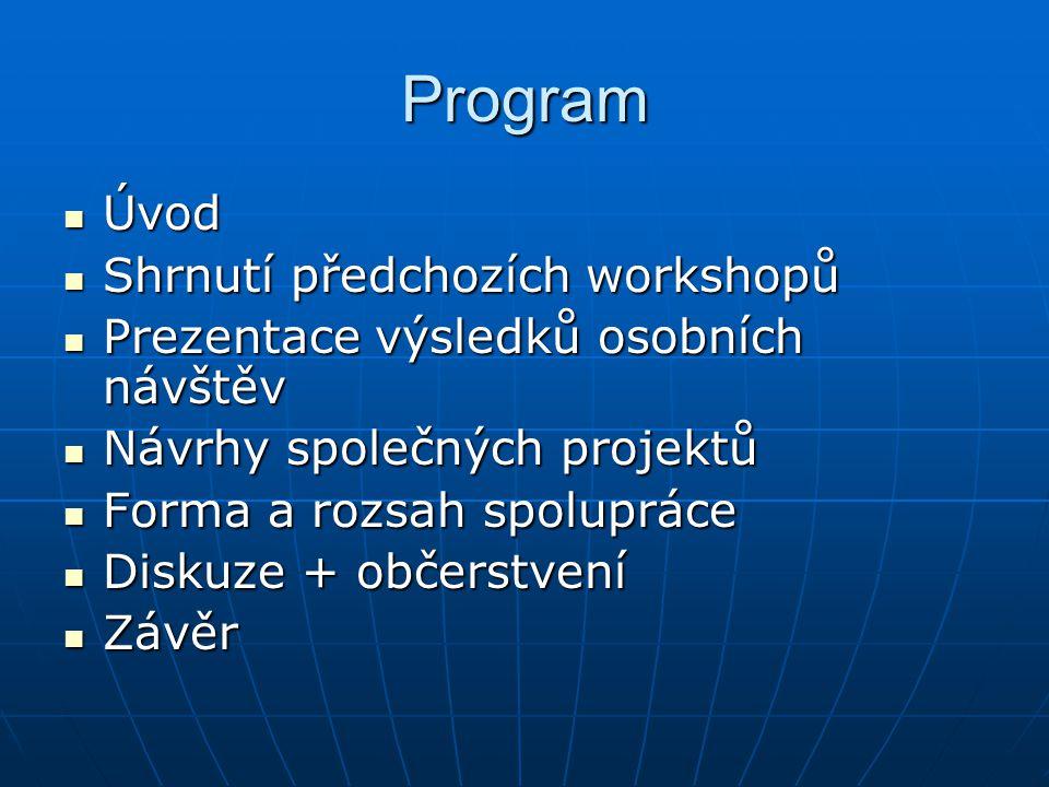 Shrnutí předchozích workshopů – 1.