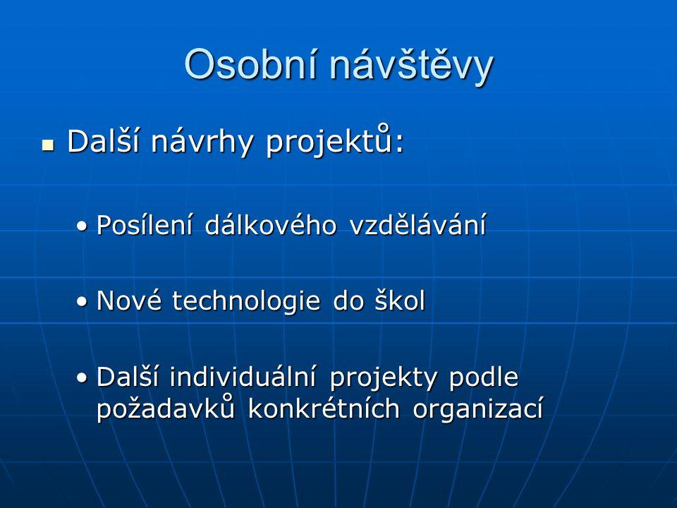 Konkrétní projekty s finanční podporou EU Projekty realizované v rámci koordinačně informačního centra.