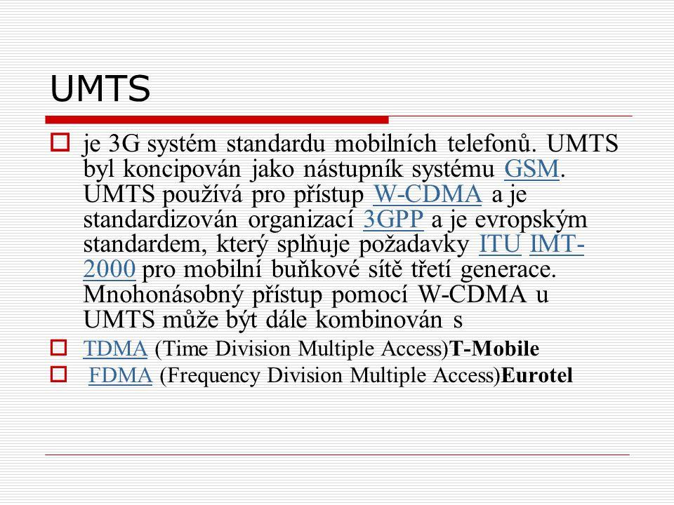 UMTS  je 3G systém standardu mobilních telefonů. UMTS byl koncipován jako nástupník systému GSM.
