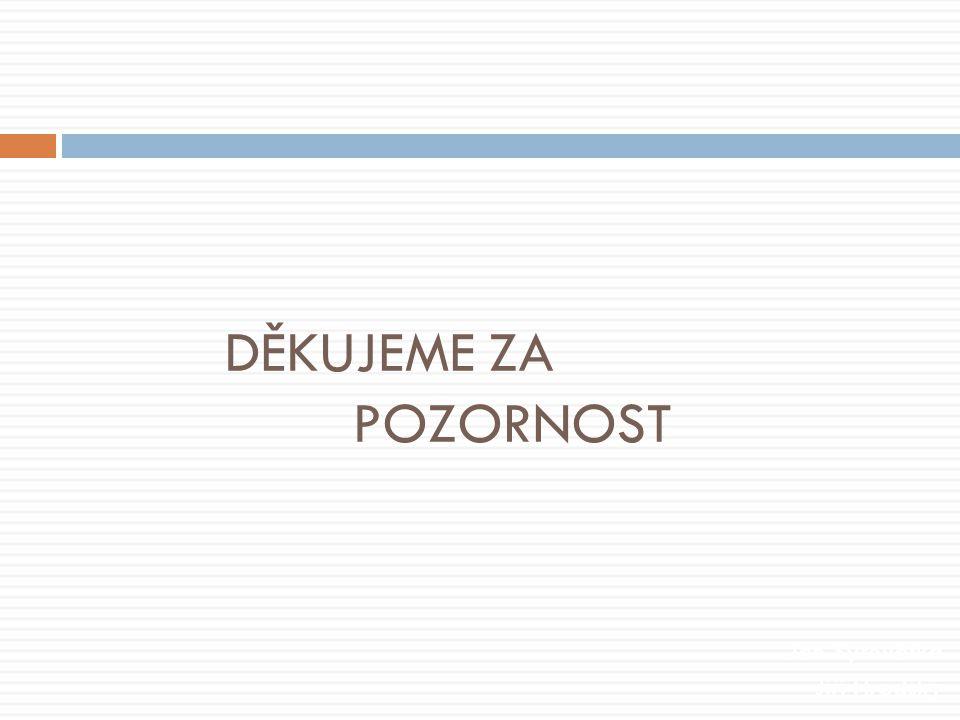 DĚKUJEME ZA POZORNOST Jan Syrovátka Jiří Hradský