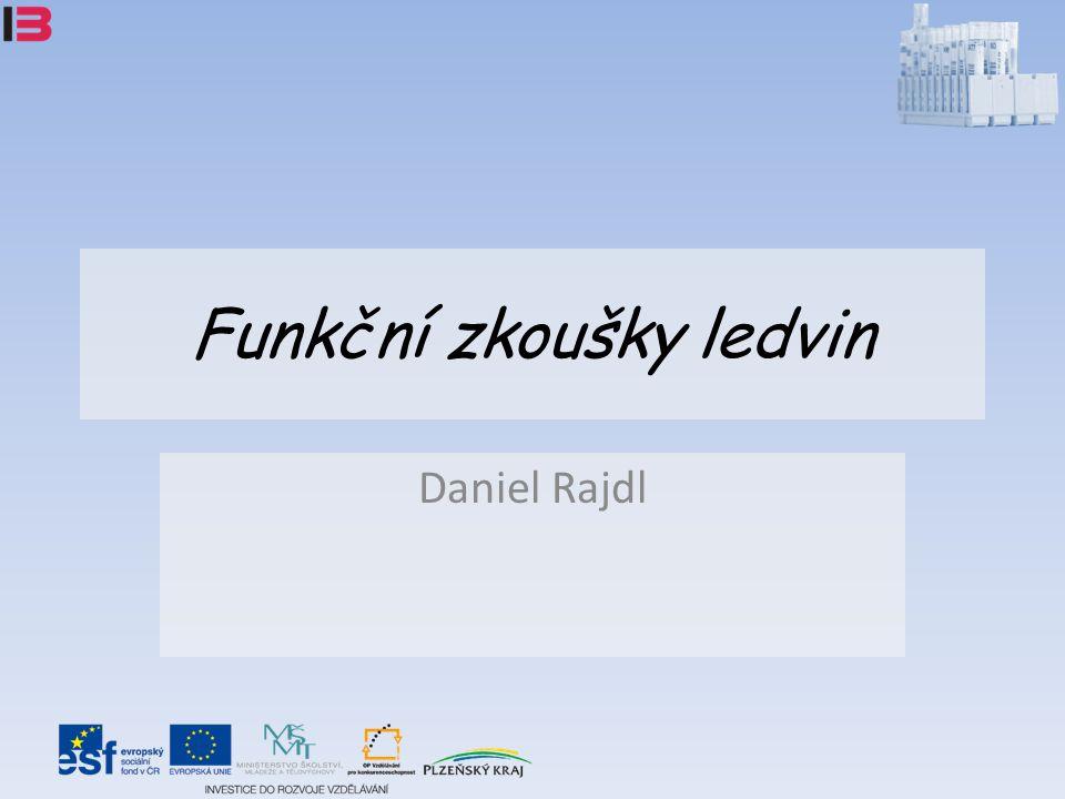 Funkční zkoušky ledvin Daniel Rajdl