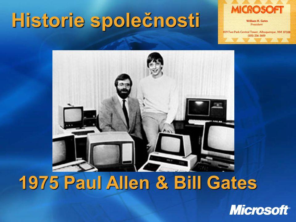 Historie společnosti 1975 Paul Allen & Bill Gates