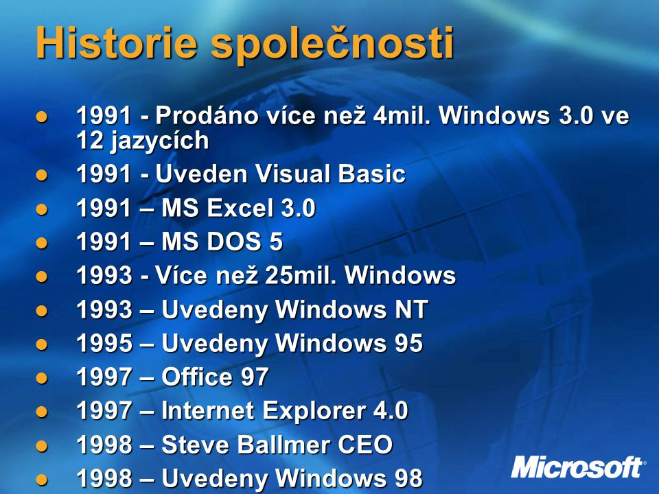 2000 Bill Gates (Chairman & Chief Software Architect) slavnostně oznámil uvedení Windows 2000 Professional, Windows 2000 Server, a Windows 2000 Advanced ServerBill Gates (Chairman & Chief Software Architect) slavnostně oznámil uvedení Windows 2000 Professional, Windows 2000 Server, a Windows 2000 Advanced Server Uvedení Windows MEUvedení Windows ME