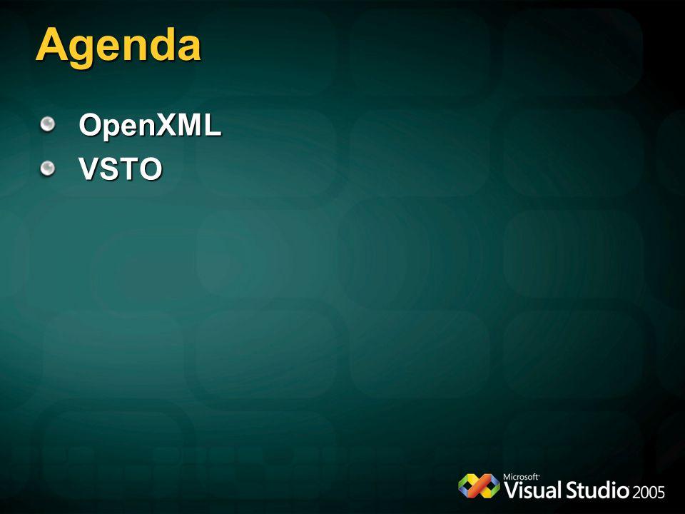 Agenda OpenXMLVSTO
