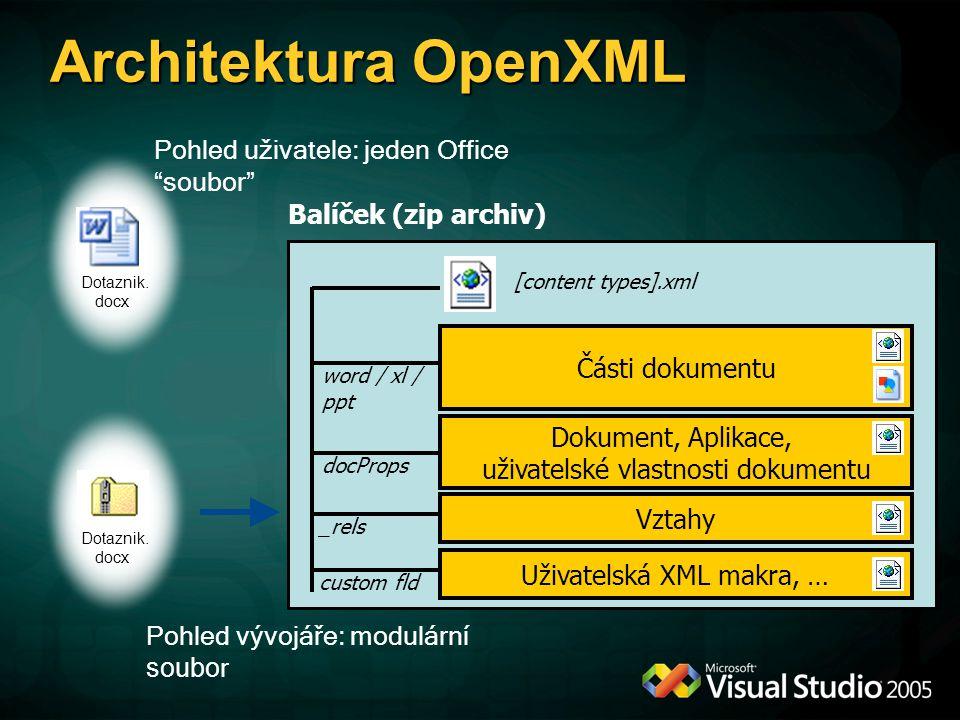Architektura OpenXML Dotaznik.
