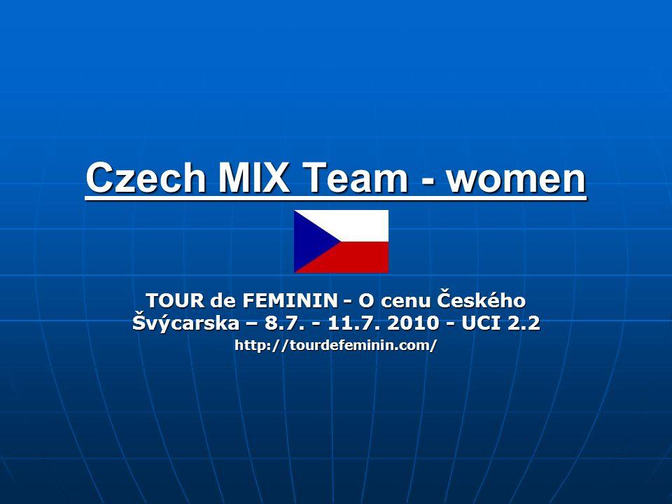 Czech MIX Team - women TOUR de FEMININ - O cenu Českého Švýcarska – 8.7.