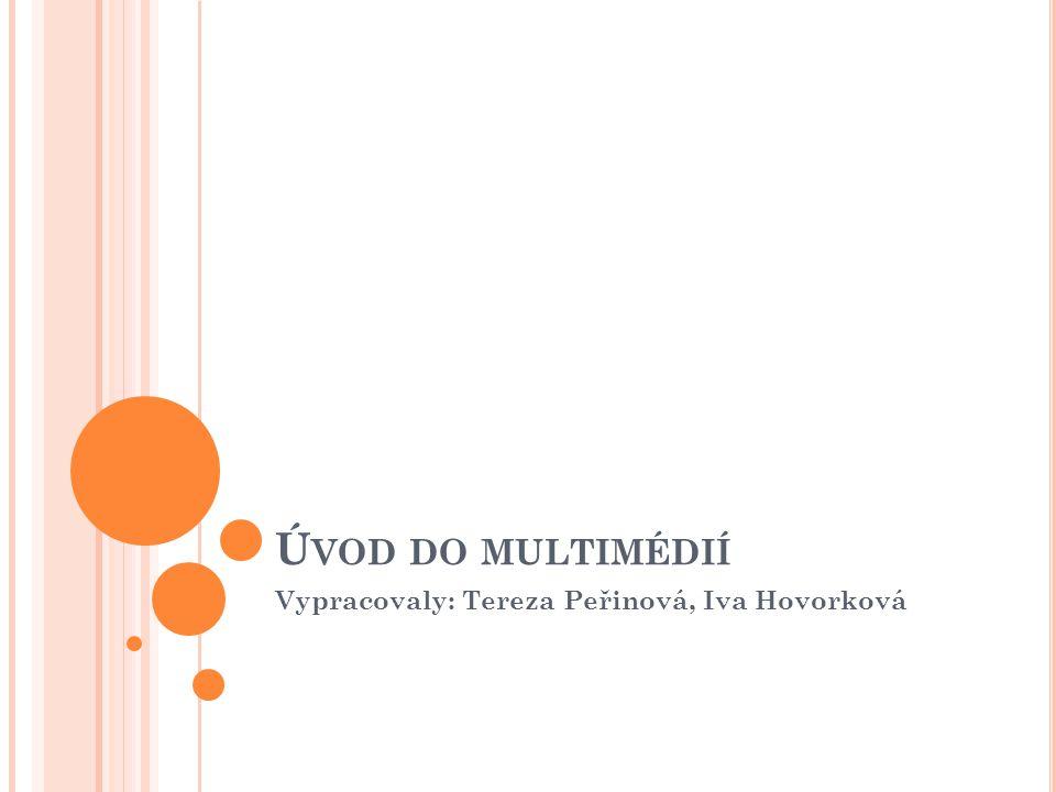 Ú VOD DO MULTIMÉDIÍ Vypracovaly: Tereza Peřinová, Iva Hovorková