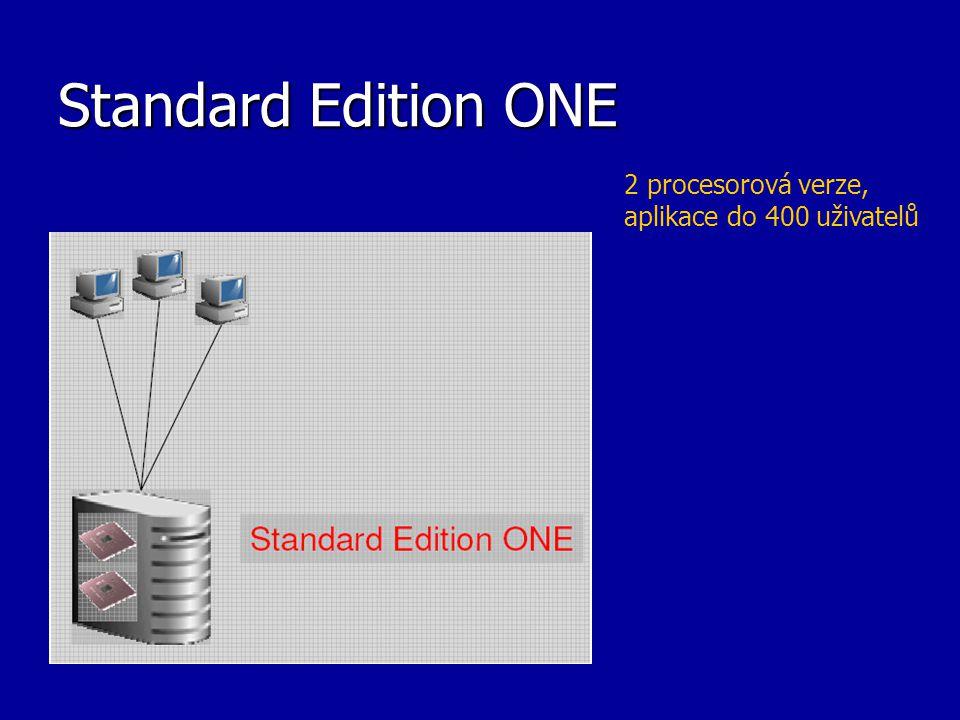 Standard Edition ONE 2 procesorová verze, aplikace do 400 uživatelů