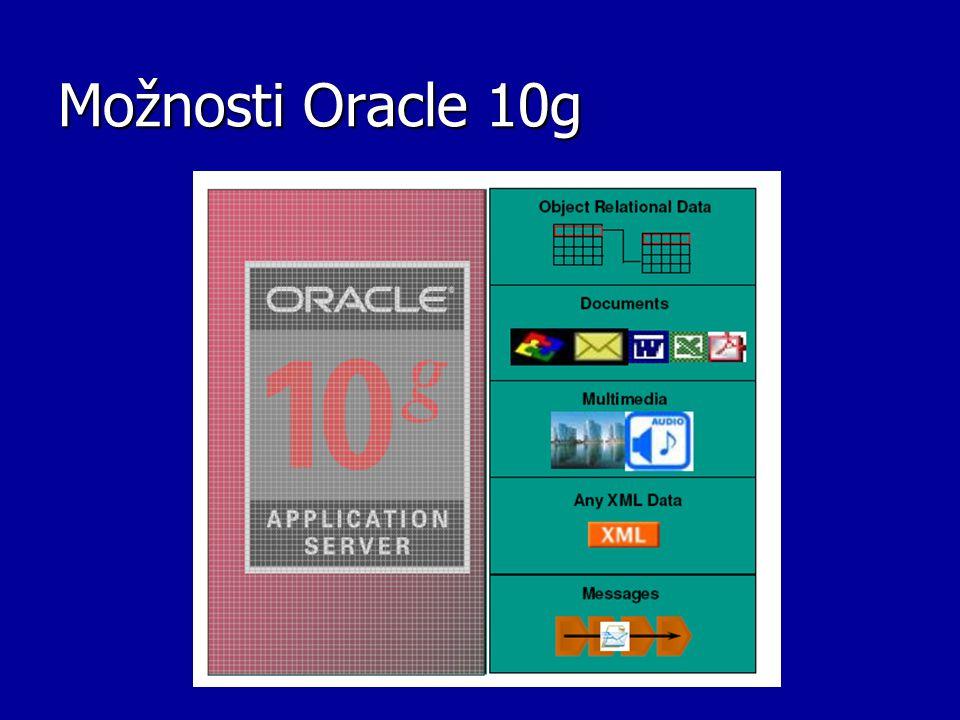 Možnosti Oracle 10g