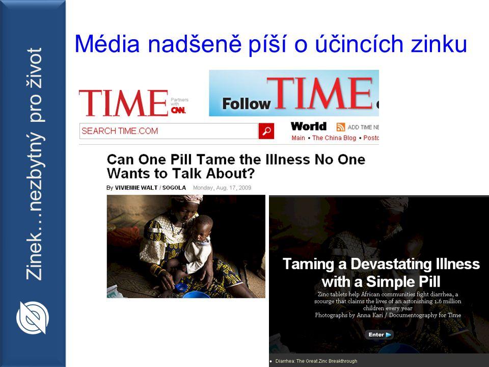 Zinek…nezbytný pro život Média nadšeně píší o účincích zinku