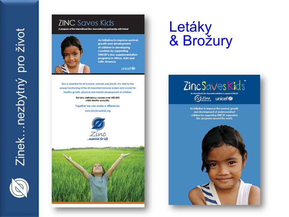 Zinek…nezbytný pro život Letáky & Brožury
