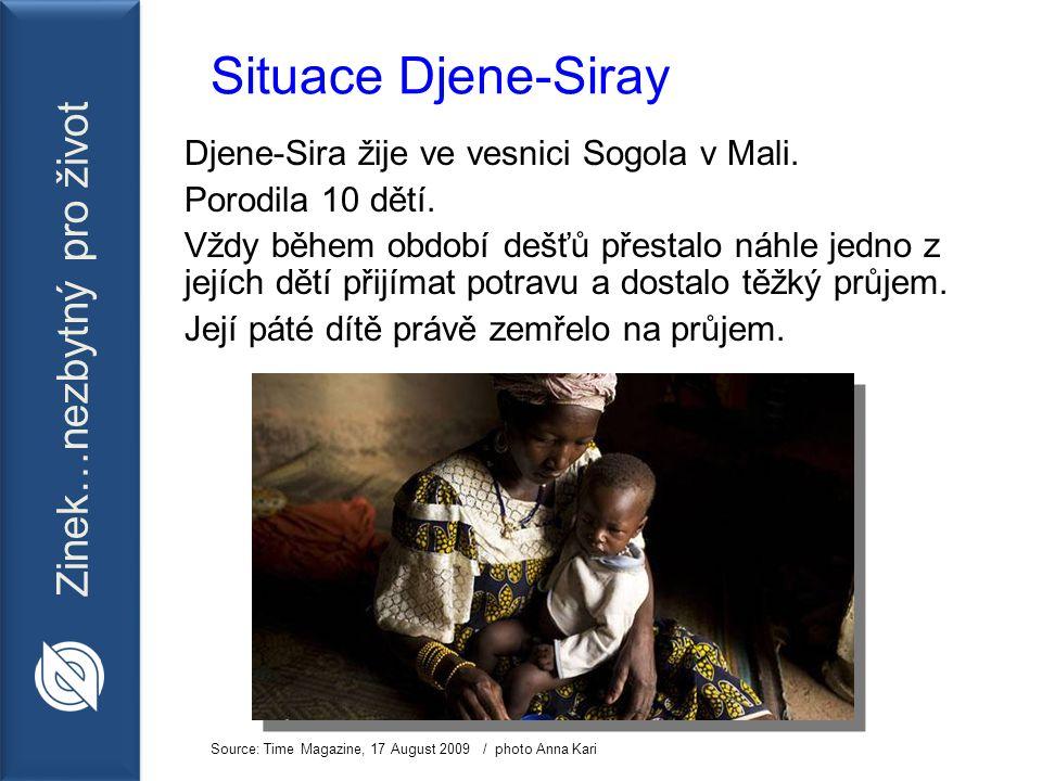 Zinek…nezbytný pro život Situace Djene-Siray Djene-Sira žije ve vesnici Sogola v Mali.