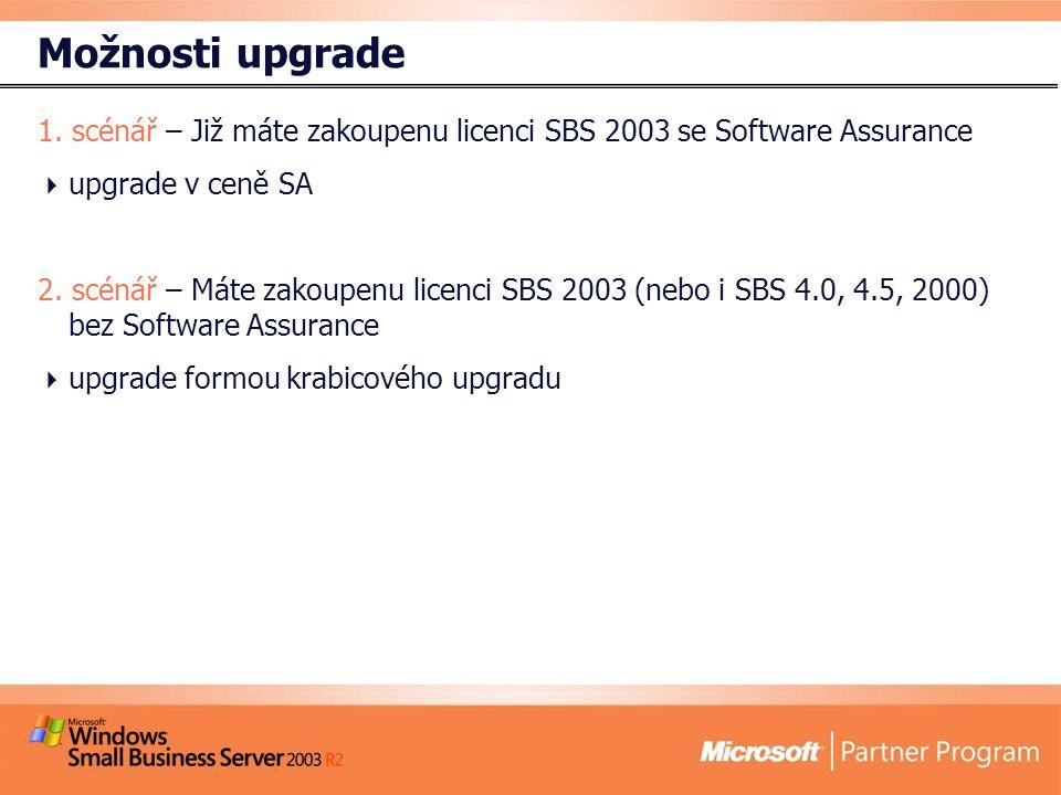 Možnosti upgrade 1.