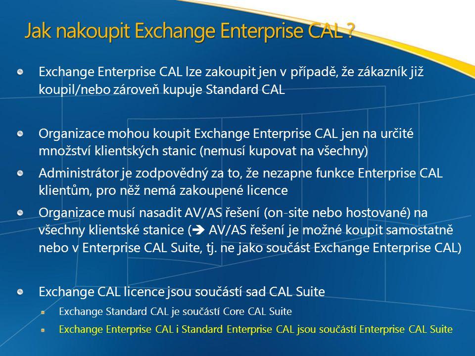 Jak nakoupit Exchange Enterprise CAL .