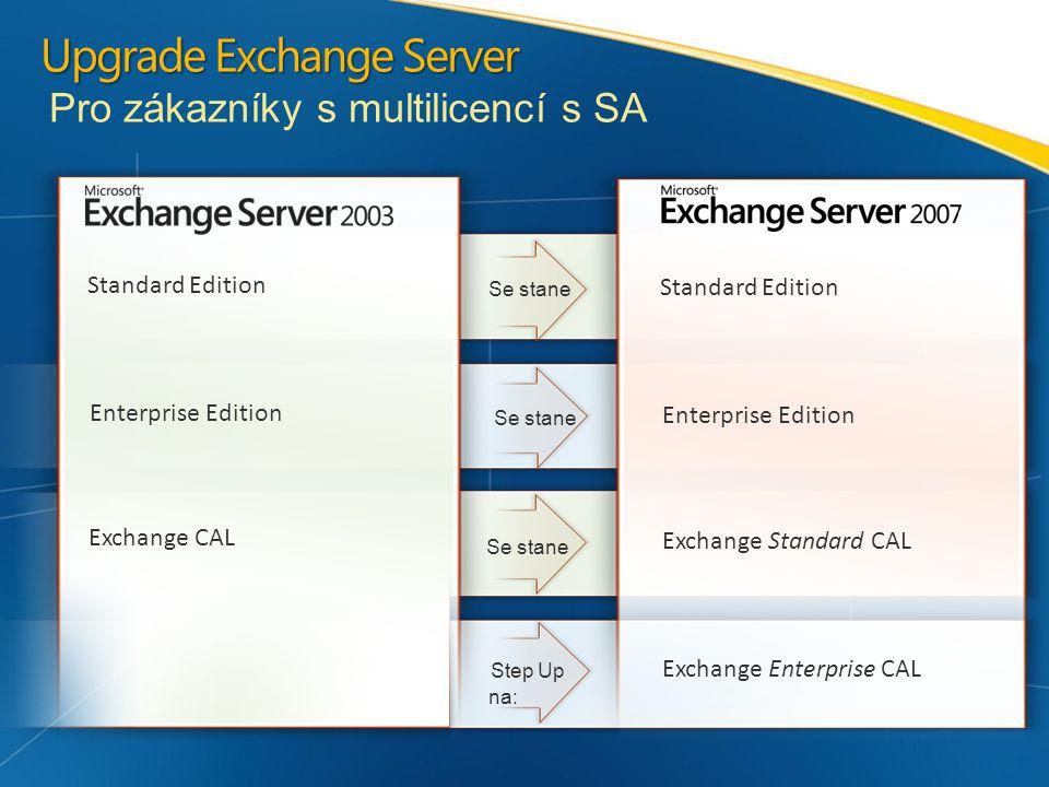 """Poznámky k licenci na server Exchange Server se instaluje po rolích Existuje 5 rolí Exchange Serveru Role Edge Transport vyžaduje instalaci na samostatný server AS/AV on-site řešení (Forefront Security for Exchange) se instaluje na server s rolí Edge Transport Exchange server se licencuje metodou """"per server => Při instalaci role Edge Transport nebo AV/AS řešení on-site jsou zapotřebí 2 licence na server"""