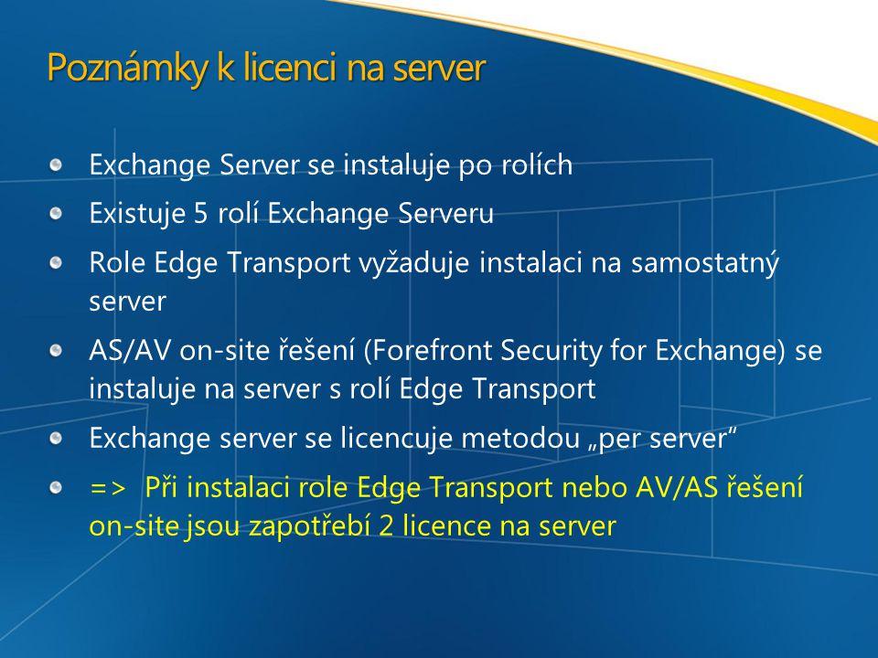 Exchange Server CAL – verze 2007 již neobsahuje nárok na MS Outlook !!.