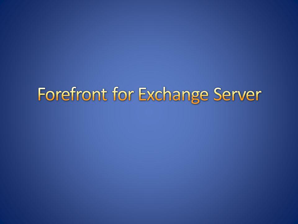 Antivirové a antispamové řešení Výhradně pro Exchange Server 2007 Více antivirových strojů: