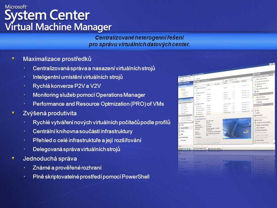 Centralizované heterogenní řešení pro správu virtuálních datových center.