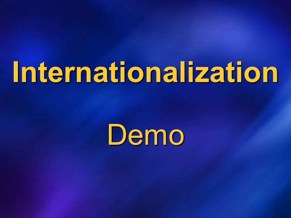Internationalization Demo