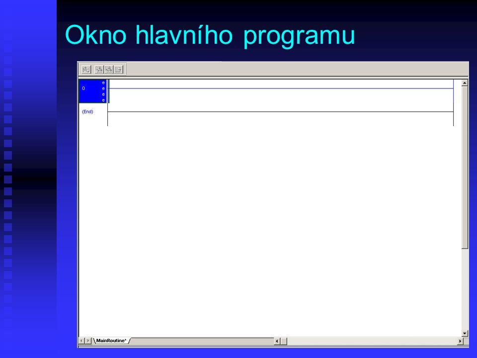 Okno hlavního programu