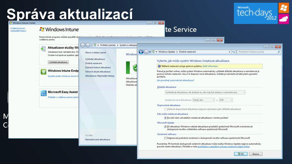 Správa aktualizací Managed Computer Microsoft Update Service Windows Intune Administrator Console Cloud Service 4 – schváleno k instalaci.